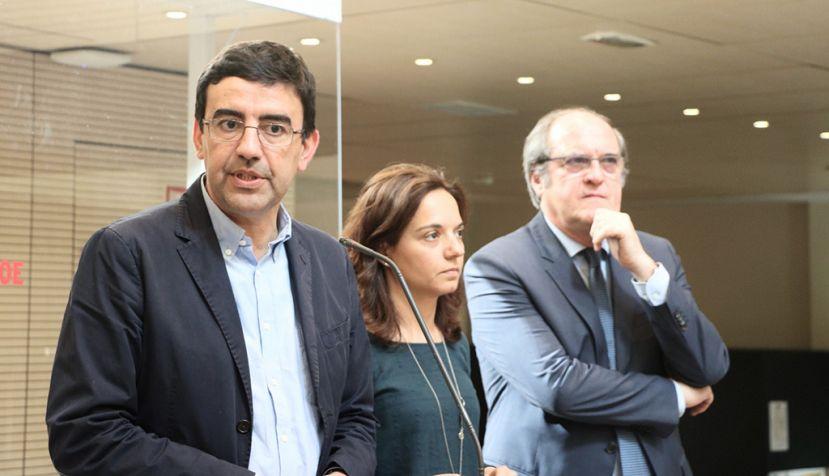 Reunión de coordinación de Mario Jiménez con Sara Hernández, Ángel Gabilondo, Puri Causapié y Antonio Hernando sobre Madrid